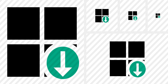 Windows Download Icon