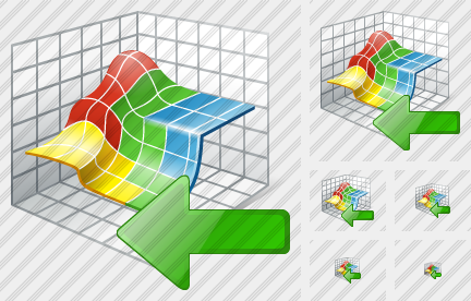 3D Graph Import Icon