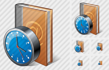 Address Book Clock Icon