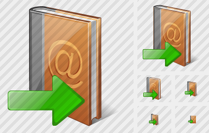 Address Book Export Icon
