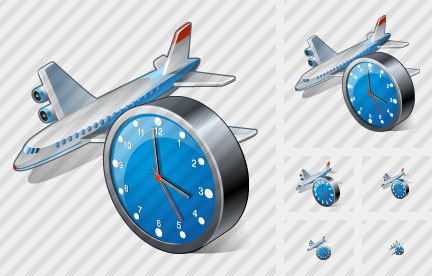 Icone Airplane Clock