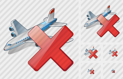 Airplane Delete Icon