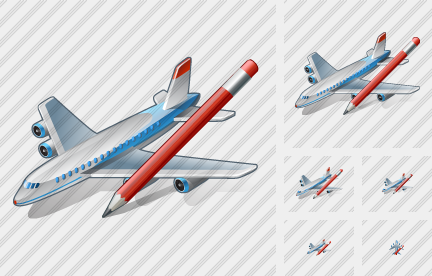 Airplane Edit Icon