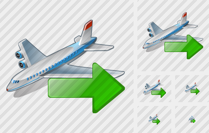 Airplane Export Icon