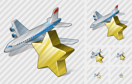 Airplane Favorite Icon