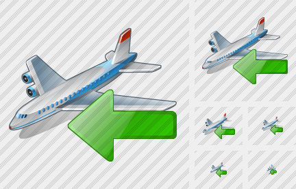 Airplane Import Icon
