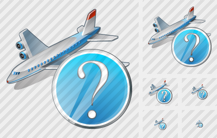 Airplane Question Icon