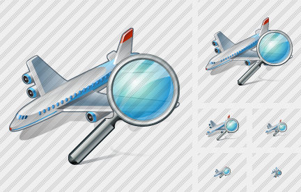 Airplane Search Icon