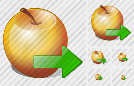 Apple Export Icon