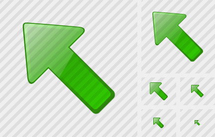 Arrow Left Up Green Icon