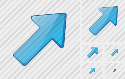 Arrow Right Up Blue Icon