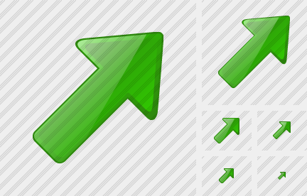 Arrow Right Up Green Icon