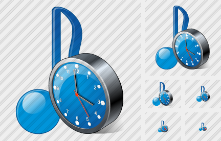 Icone Audio Clock