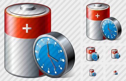Icone Battery Clock