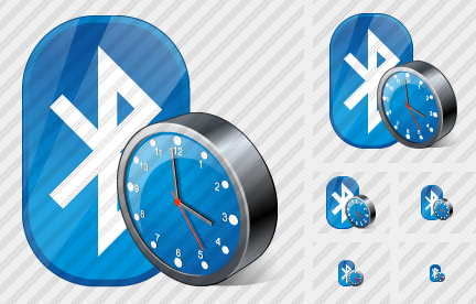 Bluetooth Clock Icon