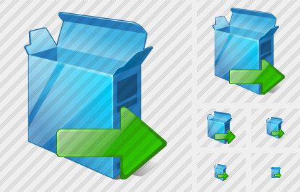 Box Open Export Icon