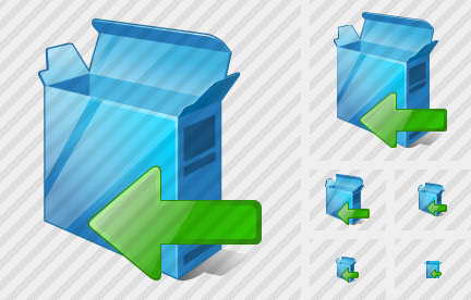 Box Open Import Icon