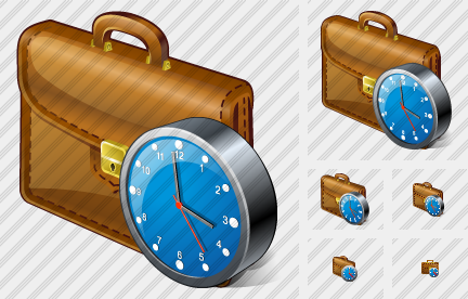 Breafcase Clock Icon
