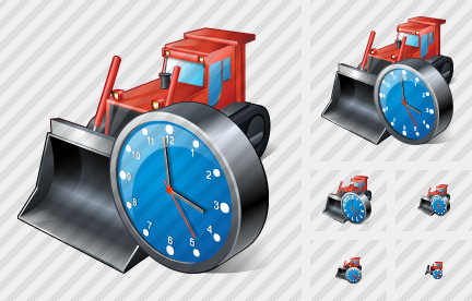 Icone Bulldozer Clock