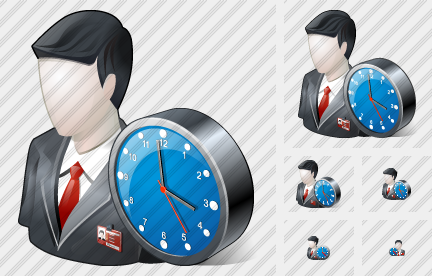 Icone Business User Clock