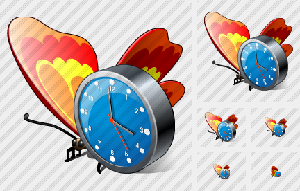 Icone Butterfly Clock