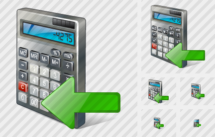 Calculator Import Icon
