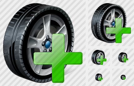 Icone Car Wheel Add