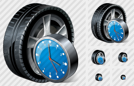 Icone Car Wheel Clock