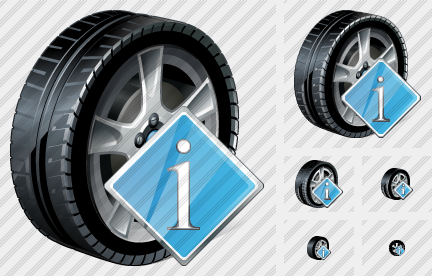 Icone Car Wheel Info