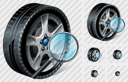 Car Wheel Search 2 Icon