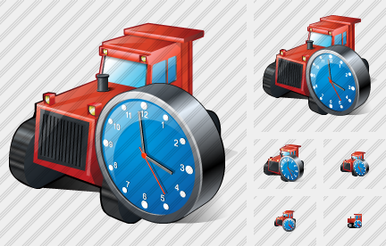 Catterpillar Tractor Clock Icon