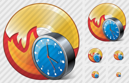 Icone CD Burn Clock