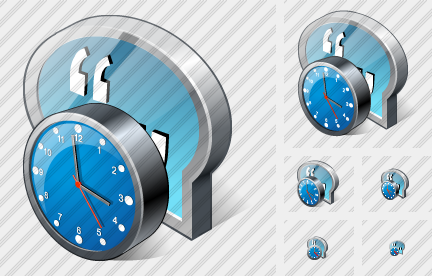 Chat Clock Icon