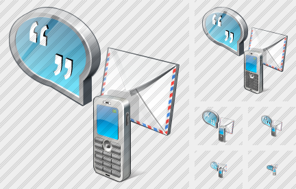 Chat Mail Phone Icon