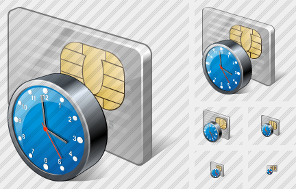 Icone Chip Card Clock