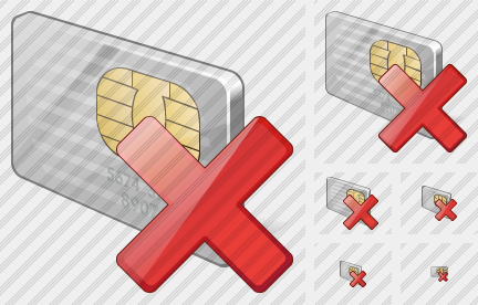 Chip Card Delete Icon