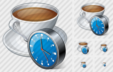 Icone Coffee Cup Clock