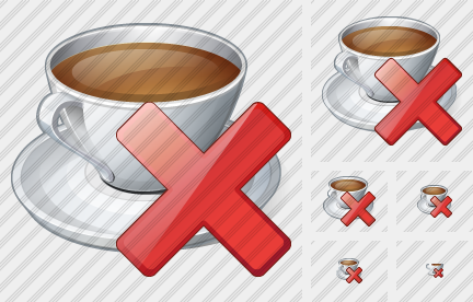 Icone Coffee Cup Delete
