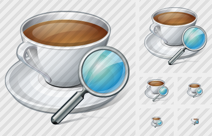 Coffee Cup Search Icon