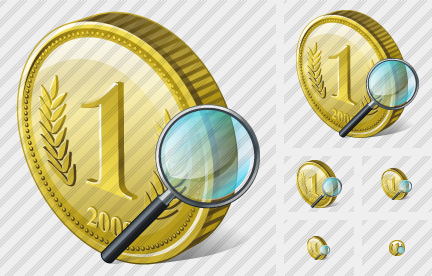 Coin Search 2 Icon