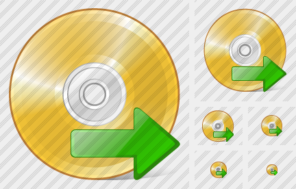 Icone Compact Disk Export
