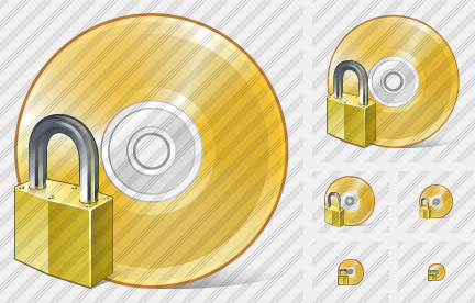 Compact Disk Locked Icon