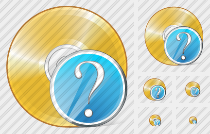 Compact Disk Question Icon