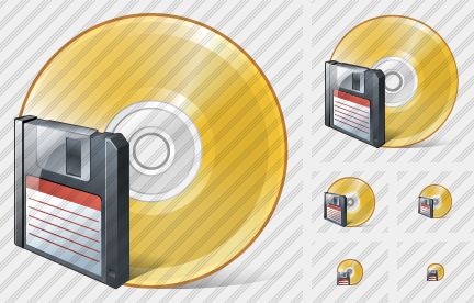Compact Disk Save Icon