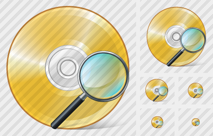 Icone Compact Disk Search2