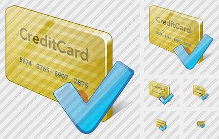 Credit Card Ok Icon