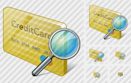 Credit Card Search Icon
