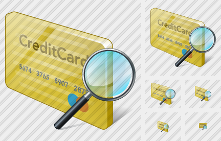 Credit Card Search 2 Icon