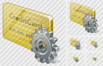 Credit Card Settings Icon