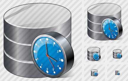 Database Clock Icon